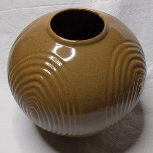 Royal Haeger Ceramic Vase Round Brown